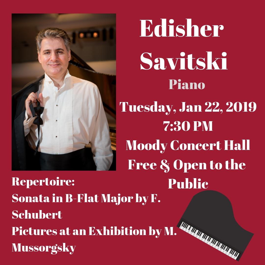 Edisher Savitski Faculty Recital poster