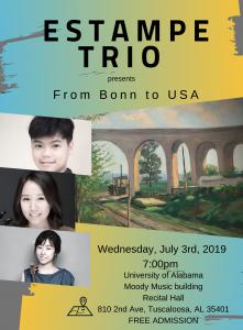 Estampe Trio poster