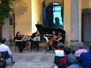 Capstone Quartet performing in Italy, summer 2018