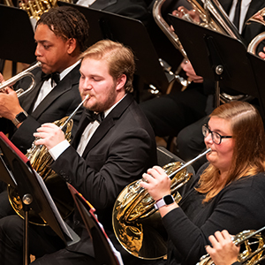 French Horn section of concert band