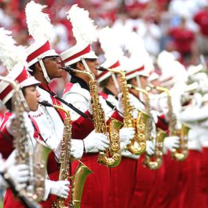 saxophone line in Million Dollar Band