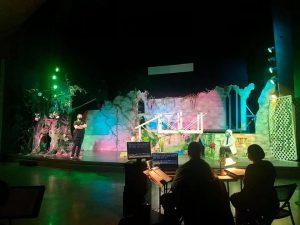 "rehearsal for the UA Opera Theatre production of ""Die Zauberflöte"""